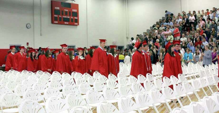 Pomperaug High School commencement exercises were held at Pomperaug High School Thursday, June 23, 2011. Photo: Walter Kidd / The News-Times Freelance