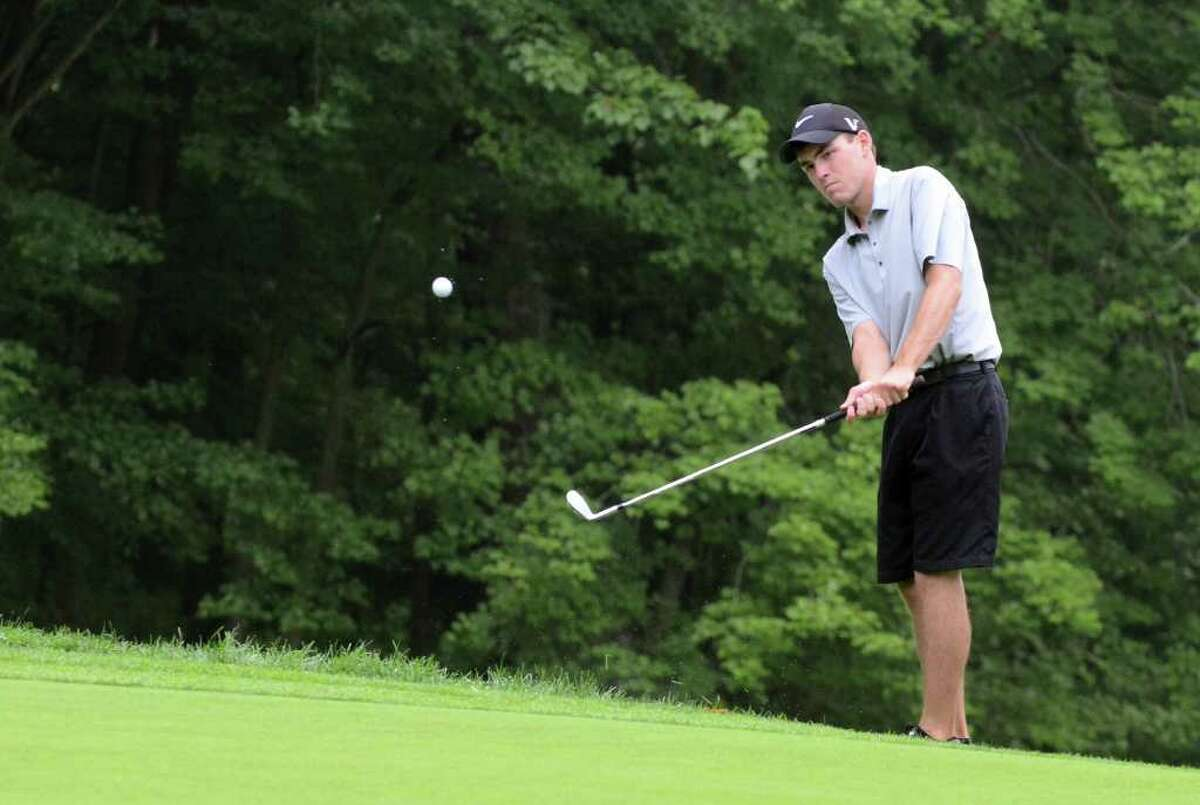 Greg Reilly, of Darien, competes in the 109th Connecticut Amatuer golf championship semifinals at Rolling Hills Country Club in Wilton on Friday, June 24, 2011.