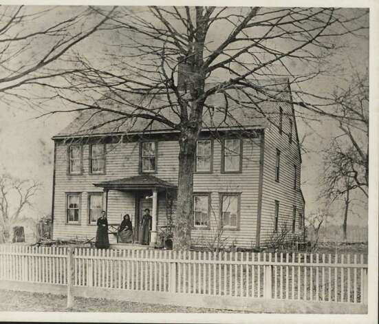 An undated photo of the Mather Homestead, which still stands at the corner of Brookside Road and Stephen Mather Road in Darien. The house was built in 1778, and was raided by British troops during the Revolutionary War. - Photo courtesy of the Darien Historical Society Photo: Contributed Photo / Darien News