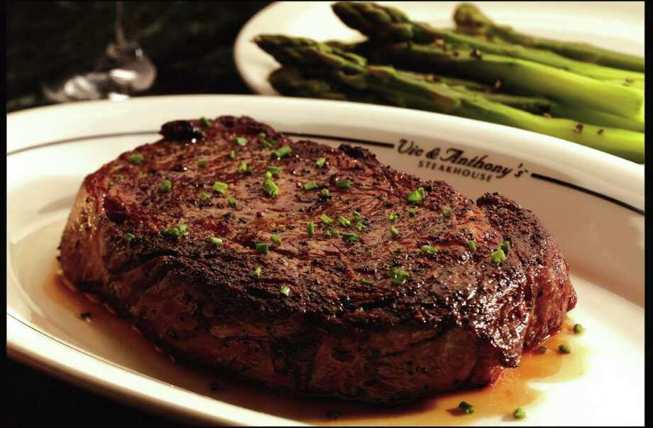 credit: Vic & Anthony's Caption: Steaks are prime at Vic & Anthony's, but chef Carlos Rodgriuez has many talents. / handout