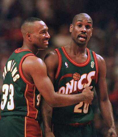When I almost came to blows with Gary Payton, I was as sick of him as he was of me. I pretty much know that back then, I was his least favorite reporter and he was my least favorite player that I'd ever covered. Photo: FRED JEWELL, . / AP