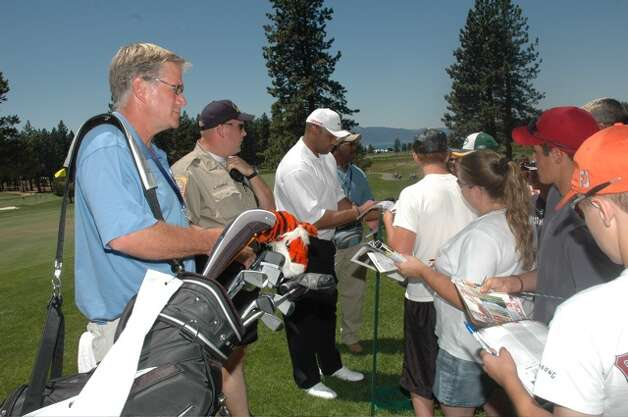 Five years ago, I spent a day as Barkley's caddie at the American Century Championship in South Lake Tahoe. It was my all-time favorite day as a sportswriter. Photo: .