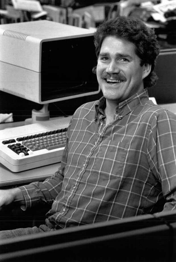 When I walked into the P-I newsroom in 1982, I knew I had died and gone to heaven. I proceeded to rock the John Oates look well in to the '90s. Photo: Seattlepi.com File, .