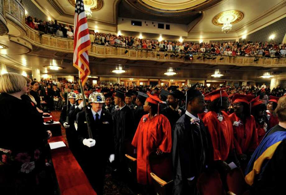 Schenectady High School held its graduation ceremony at  Proctors Theatre in Schenectady, N.Y., on Friday, June 24, 2011.   (Skip Dickstein / Times Union) Photo: SKIP DICKSTEIN / 2011