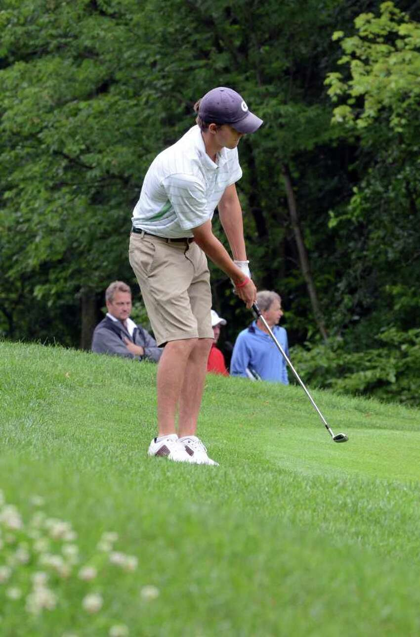 Curtis Loop, of New Canaan, competes during the 109th Connecticut Amatuer golf championship at Rolling Hills Country Club in Wilton on Friday, June 24, 2011.