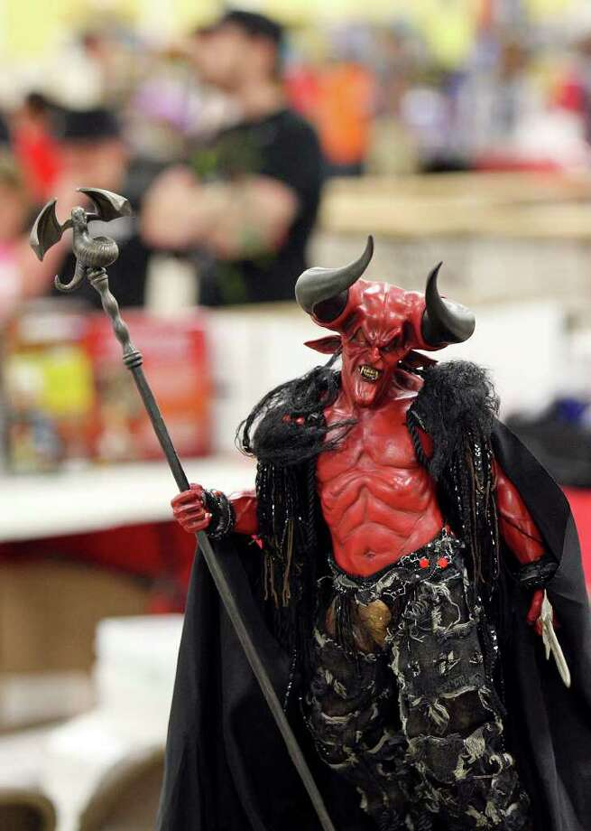 A model of the Lord of Darkness from the movie Legend for sale. Photo: Edward A. Ornelas/Express-News / © SAN ANTONIO EXPRESS-NEWS (NFS)