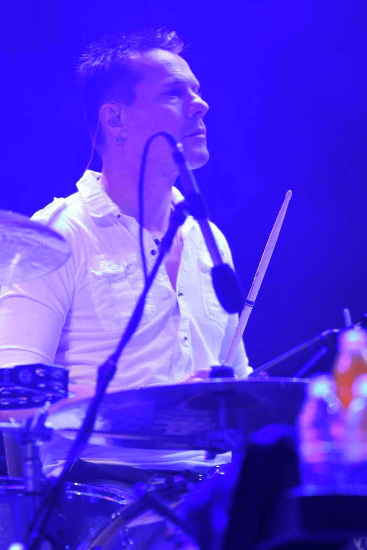 Larry Mullen Jr performs.