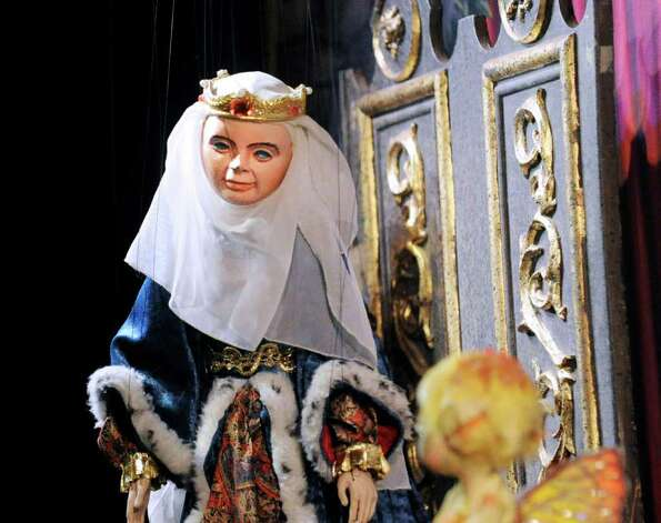"The Queen during the National Marionette Theatre's production of ""Sleeping Beauty"" staged in the Cole Auditorium at Greenwich Library, Saturday afternoon,  June 25, 2011. Photo: Bob Luckey / Greenwich Time"