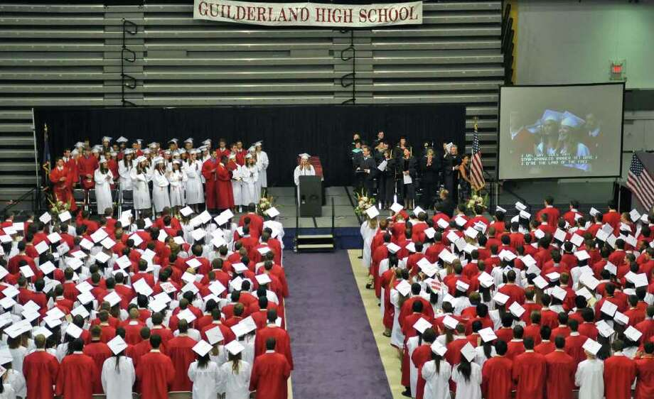 Guilderland High School commencement ceremonies at SEFCU Arena at UAlbany Saturday June 25, 2011.  (John Carl D'Annibale / Times Union) Photo: John Carl D'Annibale / 00013590A