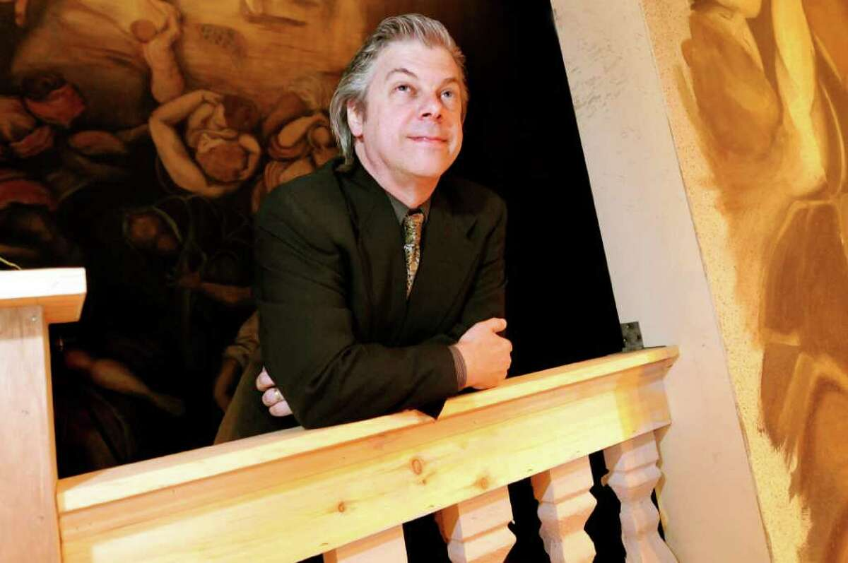 """Curtis Tucker, artistic director and conductor for the opening opera, """"Die Fledermaus,"""" at Saratoga Opera on Tuesday, June 21, 2011, at Saratoga Spa State Park in Saratoga Springs, N.Y. (Cindy Schultz / Times Union)"""