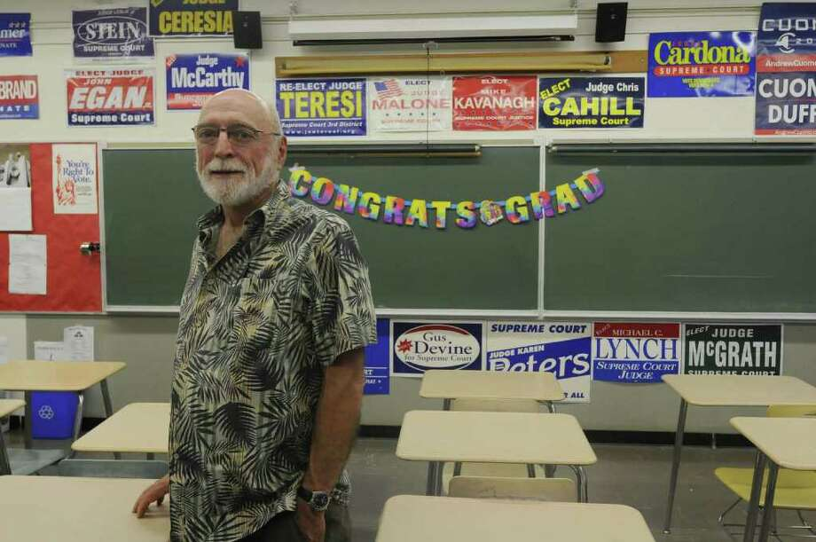 Bill Cleveland retires after 43 years as a social studies teacher at Bethlehem Central High School in Bethlehem, NY Thursday June 23, 2011( Michael P. Farrell/Times Union ) Photo: Michael P. Farrell