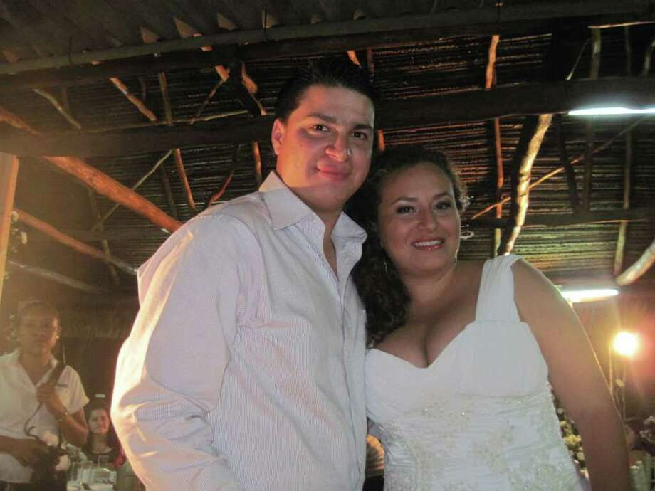 Carlos Galvan, 22, son of Hopkin Williams of Queensbury, is pictured with his wife. Galvan has twice been denied a visitor's visa to the U.S. He lives in the Galapagos Islands, Ecuador. (Photo courtesy Hopkin Williams)