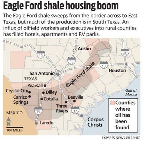 Eagle Ford shale housing boom Photo: Express-News Graphic