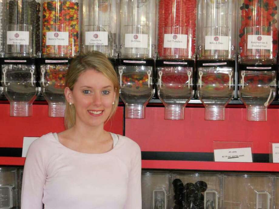 Kerrin Gildae at Sweet Rexie's in downtown Fairfield, which sells a variety of penny-candy-style sweets. Photo: Contributed Photo/Patti Woods / Fairfield Citizen contributed