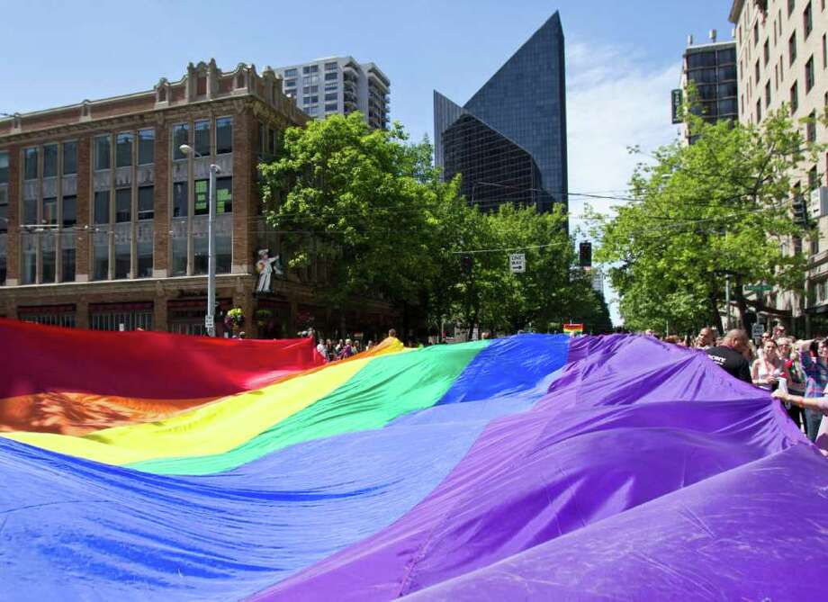 Traffic may be hectic this weekend with several major events in Seattle, including the Pride Parade. Photo: JOE DYER / SEATTLEPI.COM