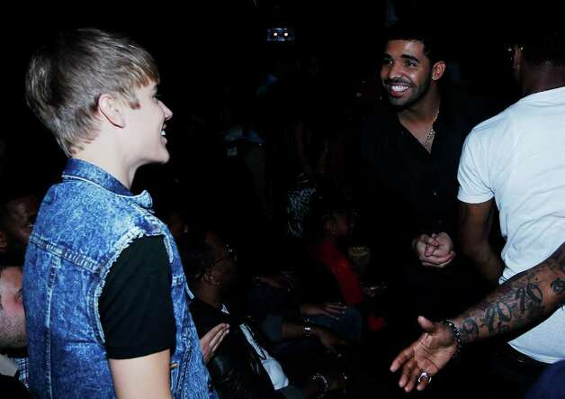 Justin Bieber, left, and Drake are seen at the BET Awards on Sunday, June 26, 2011, in Los Angeles. (AP Photo/Matt Sayles) Photo: Matt Sayles, STF / AP