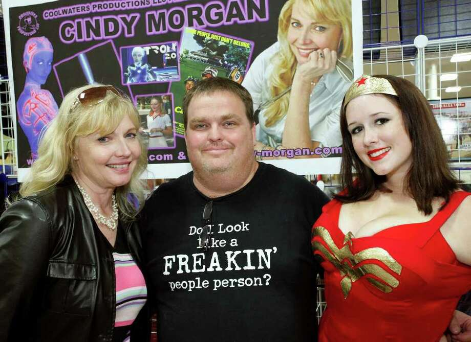 Cindy Morgan (from left), William Tatsch and Kelly Kegley visit Texas Comicon on Friday, June 24, 2011, at the San Antonio Events Center. Photo: J. Michael Short/Special To The Express-News / THE SAN ANTONIO EXPRESS-NEWS