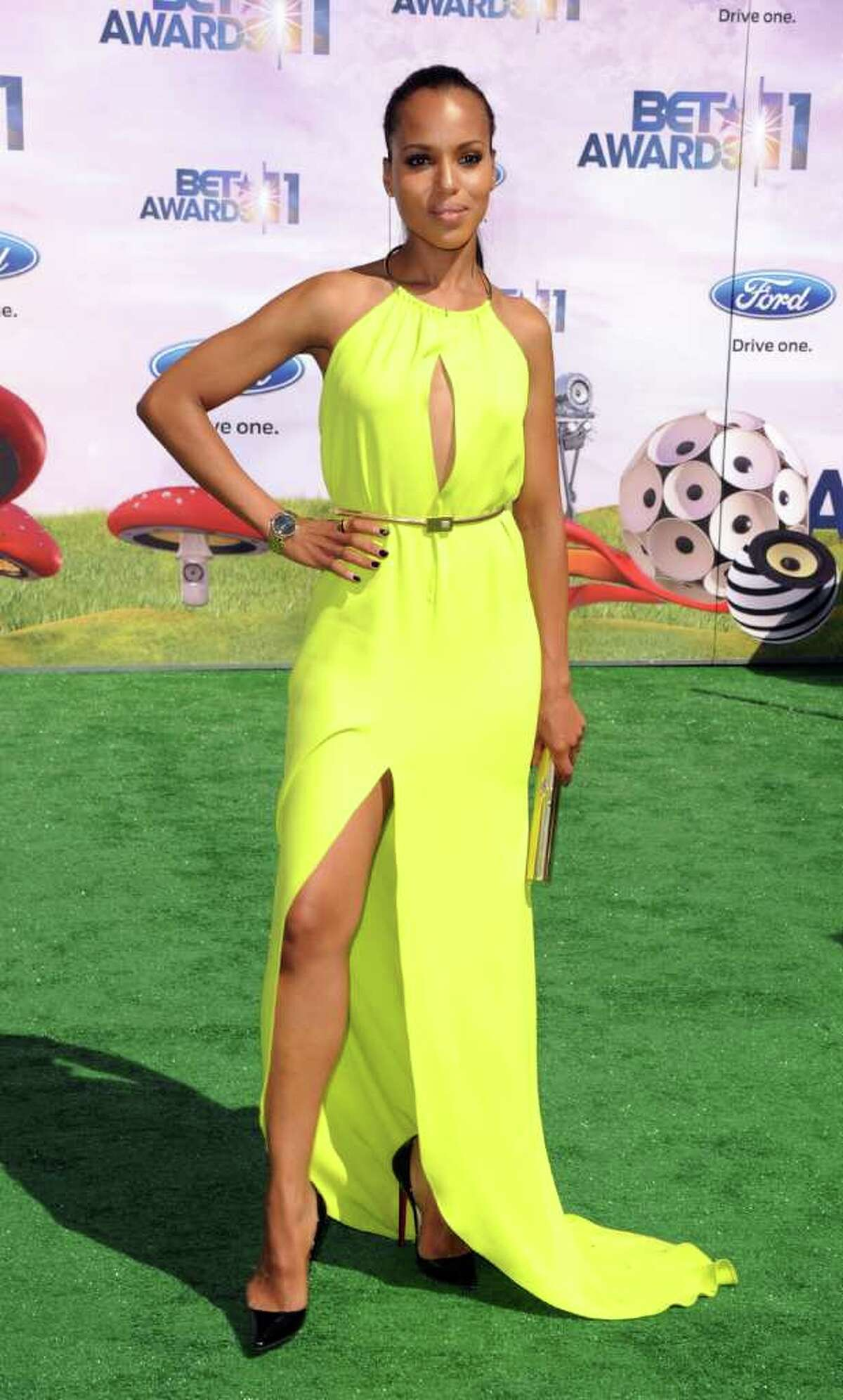 Actress Kerry Washington arrives at the BET Awards '11 held at the Shrine Auditorium in Los Angeles on Sunday, June 26, 2011.