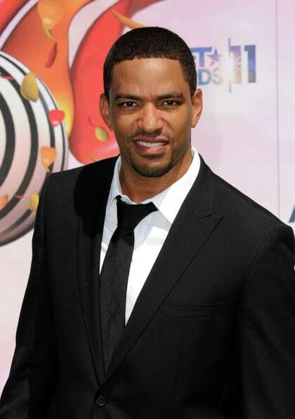 Actor Laz Alonso meets up with Common Feb. 17 for a day party at Hess Club Galleria.