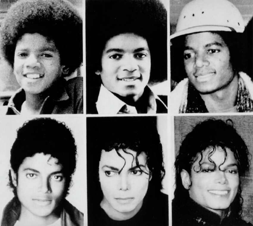 Michael Jackson is seen in file pictures from top left, 1971, 1977, 1979, and bottom left, 1983, 1987, and 1990. Jackson has died in Los Angeles at age 50 on Thursday, June 25, 2009.