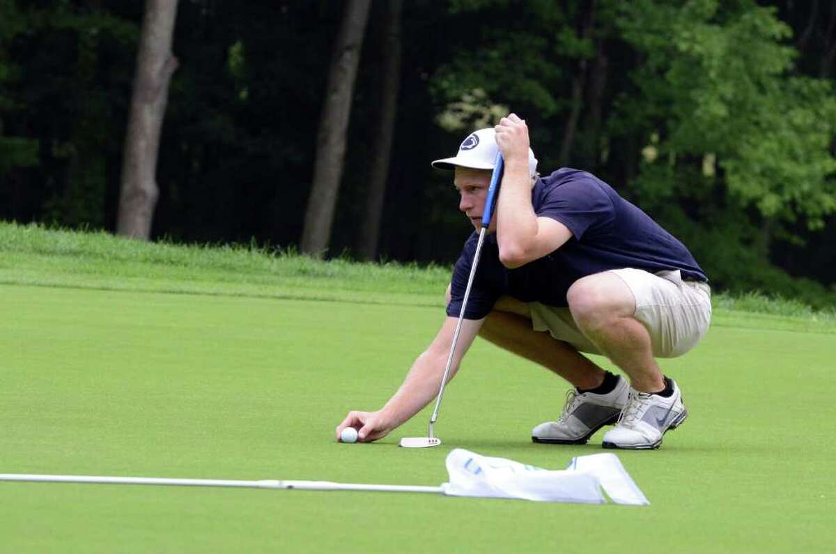 Tom McDonagh, of Shorehaven, competes in the 109th Connecticut Amatuer golf championship semifinals at Rolling Hills Country Club in Wilton on Friday, June 24, 2011.