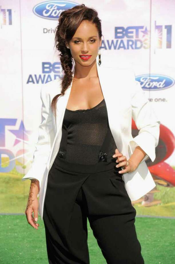 Alicia Keys arrives at the BET Awards on Sunday, June 26, 2011, in Los Angeles. (AP Photo/Chris Pizzello) Photo: Chris Pizzello