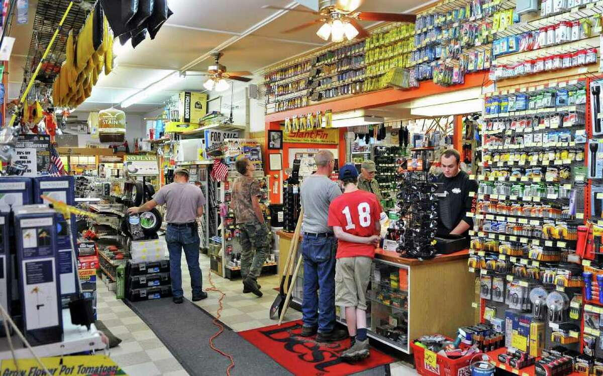 Customers inside Braley Noxon Hardware store on Main Street in North Creek Wednesday June 22, 2011. (John Carl D'Annibale / Times Union)