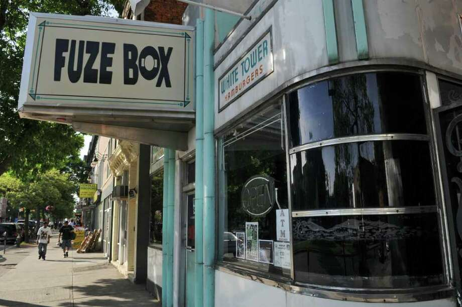 View of the Fuze Box on Central Avenue in Monday June 27, 2011 in Albany, NY. A jury ordered the owners of the bar to pay a $500,000 fine in relation to a patron who got drunk and crashed into another driver. ( Philip Kamrass / Times Union) Photo: Philip Kamrass