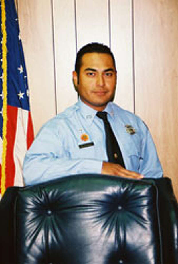 Wharton firefighter, Thomas Araguz III,  died in July 2010 while battling a massive blaze at the Maxim egg farm just outside of Boling that took more than 150 firefighters all night to put out.  Thomas Araguz III, 30, recently had been promoted to captain at the Wharton Fire Department and leaves behind a wife and two young sons, said Jay Evans. (credit the Wharton Fire Department ) / handout