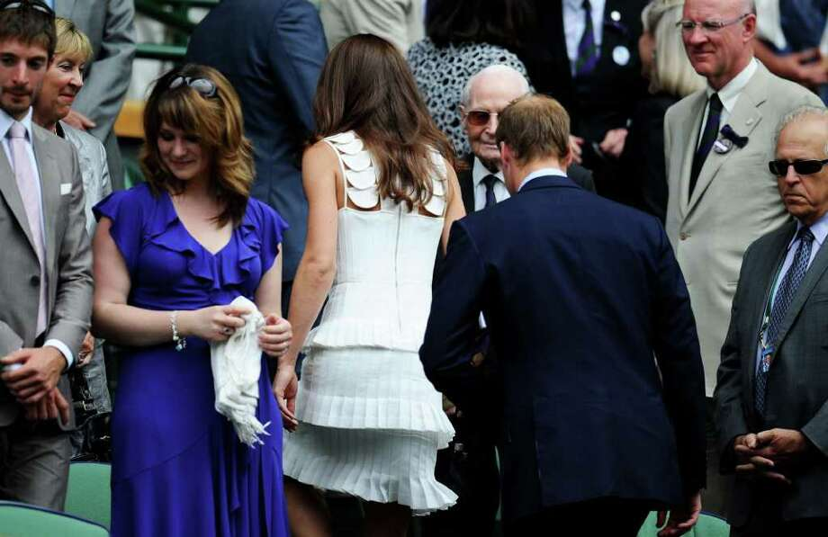 LONDON, ENGLAND - JUNE 27:  Catherine, Duchess of Cambridge and Prince William, Duke of Cambridge attend the fourth round match between  Andy Murray of Great Britain and  Richard Gasquet of France on Day Seven of the Wimbledon Lawn Tennis Championships at the All England Lawn Tennis and Croquet Club on June 27, 2011 in London, England.  (Photo by Clive Mason/Getty Images) Photo: Clive Mason, Getty Images / 2011 Getty Images