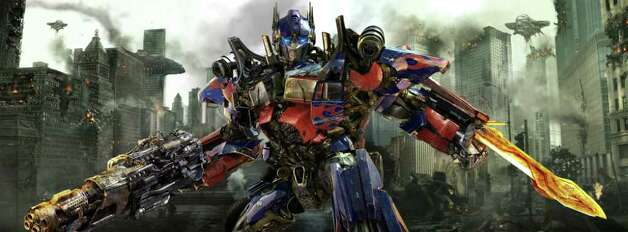 "In this publicity image released by Paramount Pictures, Optimus Prime is shown in a scene from ""Transformers: Dark of the Moon."" Photo: AP"