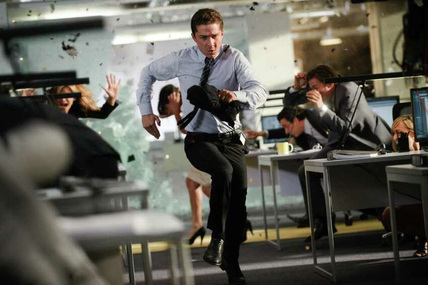 In this publicity image released by Paramount Pictures, Shia LaBeouf plays Sam Witwicky in a scene from