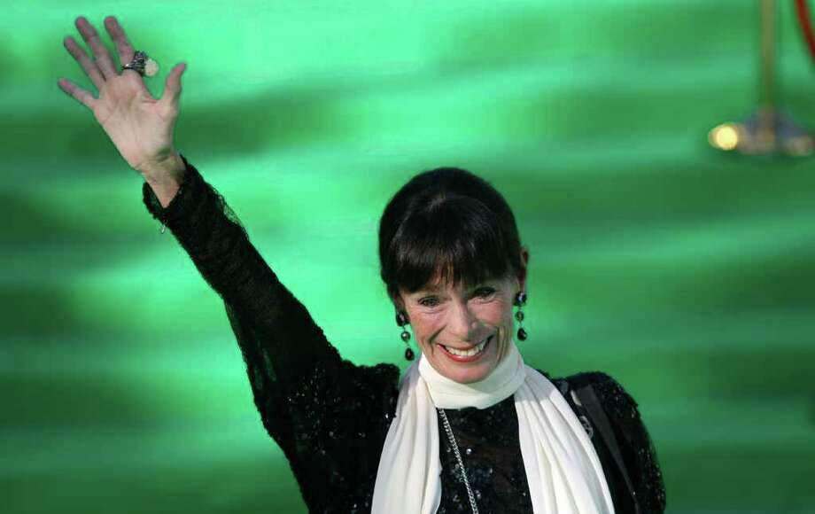 Actress Geraldine Chaplin, had of the jury, poses at the opening ceremony of the Moscow international film festival in Moscow, Russia, Thursday, June 23, 2011. The Moscow Film Festival opened with Hollywood blockbuster Transformers: Dark of the Moon. Photo: Misha Japaridze, AP / AP