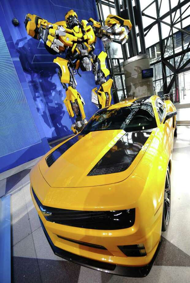 The Transformers: Dark of the Moon movie fifth-generation Chevrolet Camaro, Bumblebee during the 2011 New York International Auto Show at the Jacob Javits Convention Center in New York April 21,2011. AFP PHOTO / TIMOTHY A. CLARY Photo: AFP/Getty Images