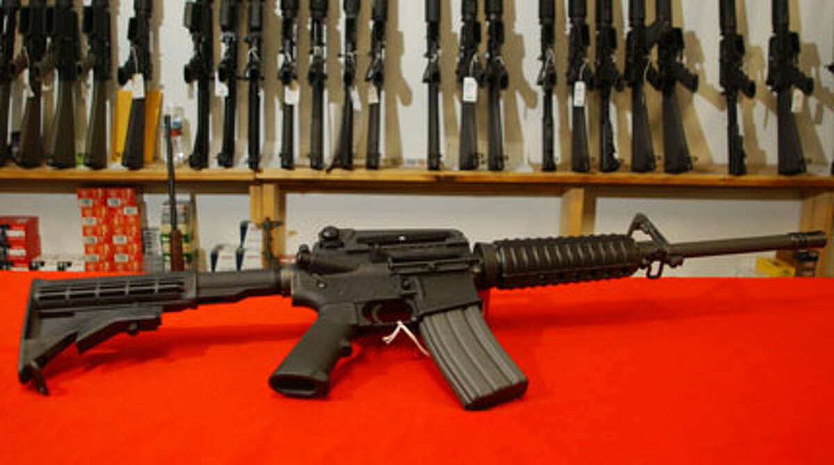 An AR-15, used by a 19-year-old to kill 13 students and four staff members at Marjorie Stoneman Douglas High School in Parkland, Florida.
