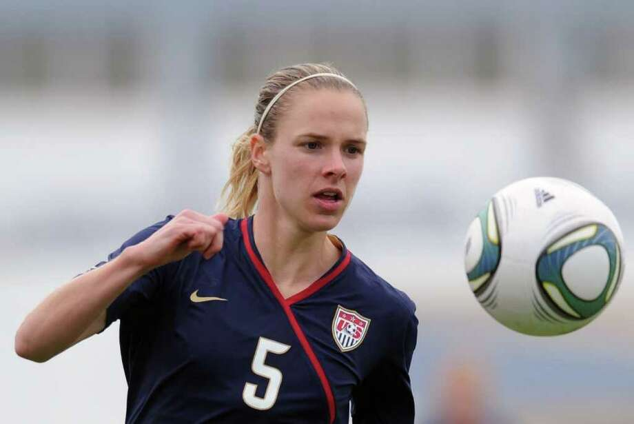 USA's Lindsay Tarpley eyes the ball during their Algarve Cup women football match against Norway at Vila Real de Santo Antonio, southern Portugal, on March 4, 2011. USA won 2-0. AFP PHOTO/ FRANCISCO LEONG Photo: FRANCISCO LEONG, AFP/Getty Images / 2011 AFP
