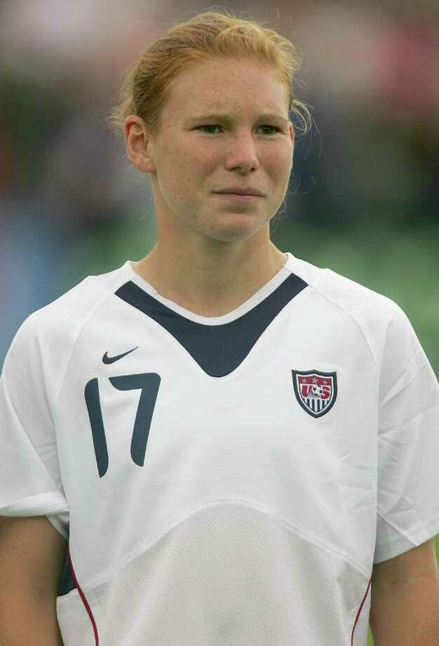 Lori Chalupny of the United States looks on prior to an international friendly match against Ukraine on July 10, 2005 at Merlo Field in Portland, Oregon. Photo: Jonathan Ferrey, Getty Images / 2005 Getty Images