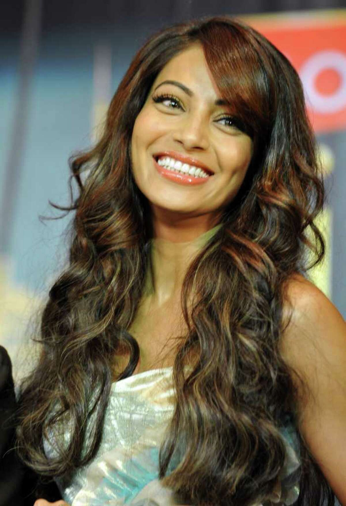 Bollywood actress Bipasha Basu is seen at an introductory press conference ahead of the 2011 International Indian Film Academy (IIFA) awards in Toronto, Ontario.