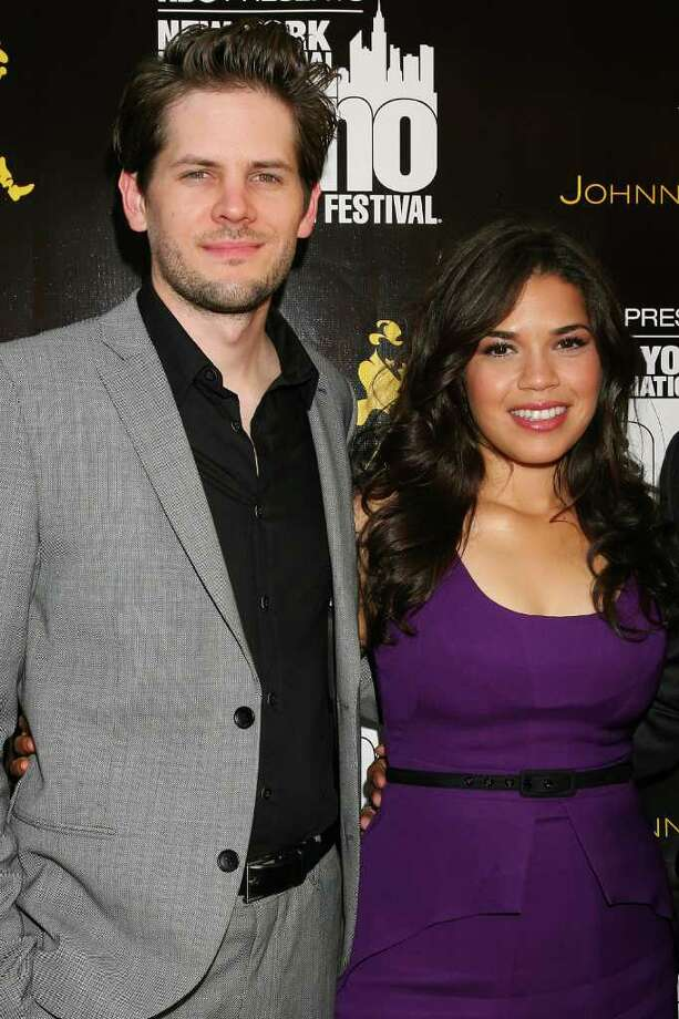 """FILE - In this July 27, 2010 file photo provided by StarPix, actress America Ferrera and her fiance director Ryan Piers Williams arrive at the the 2010 New York International Latino Film Festival opening film """"Day Land.""""  Ferrera's representative confirmed Tuesday, June 28, 2011 that Ferrera and Williams wed Monday. (AP Photo/Dave Allocca, StarPix, file) Photo: DAVE ALLOCCA"""