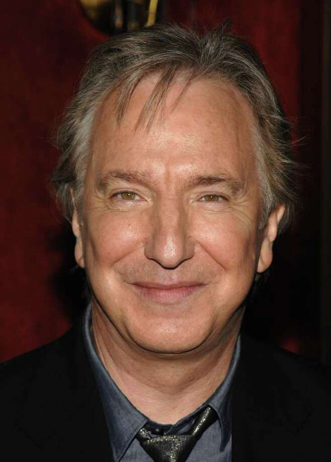 """FILE - A July 9, 2009 file photo, actor Alan Rickman attends the premiere of """"Harry Potter and the Half Blood Prince"""", in New York. Rickman, who won a Tony Award in the 2002 production of Noel Coward's """"Private Lives,"""" will star in the world premiere of Theresa Rebeck's new play """"Seminar"""" on Broadway this fall. The production will open at a Shubert theater to be announced soon.  (AP Photo/Peter Kramer, File) Photo: Peter Kramer"""