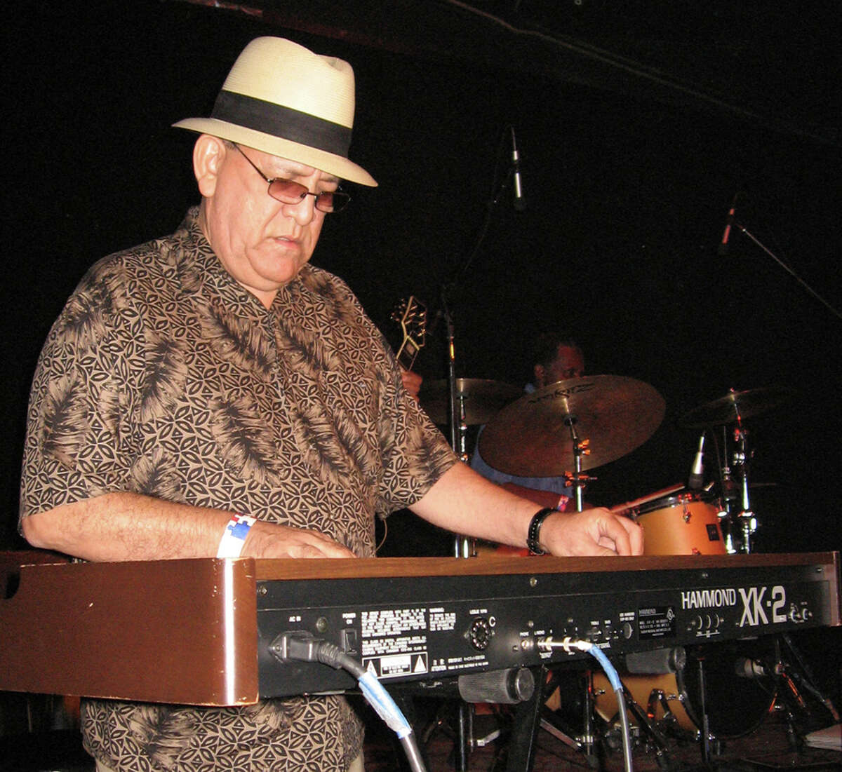 """Arturo """"Sauce"""" Gonzalez continues to play the fabled West Side Sound despite heart and kidney problems. JIM BEAL JR. / EXPRESS-NEWS"""