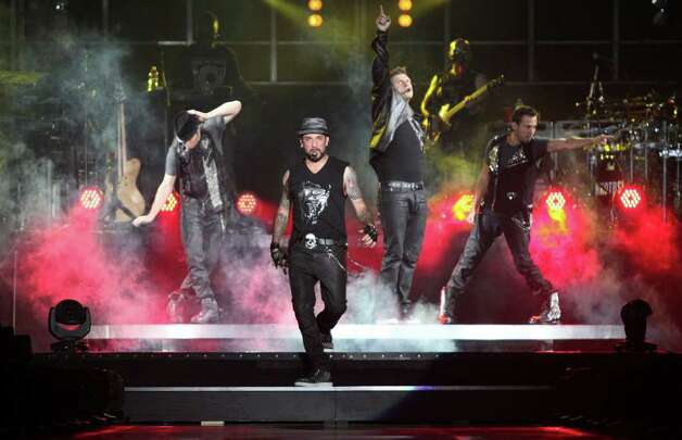 The Backstreet Boys perform during a concert with New Kids on the Block on June 28, 2011, at the AT&T Center. Photo: Andrew Buckley / Abuckley@express-news.net / Copyright: Andrew Buckley