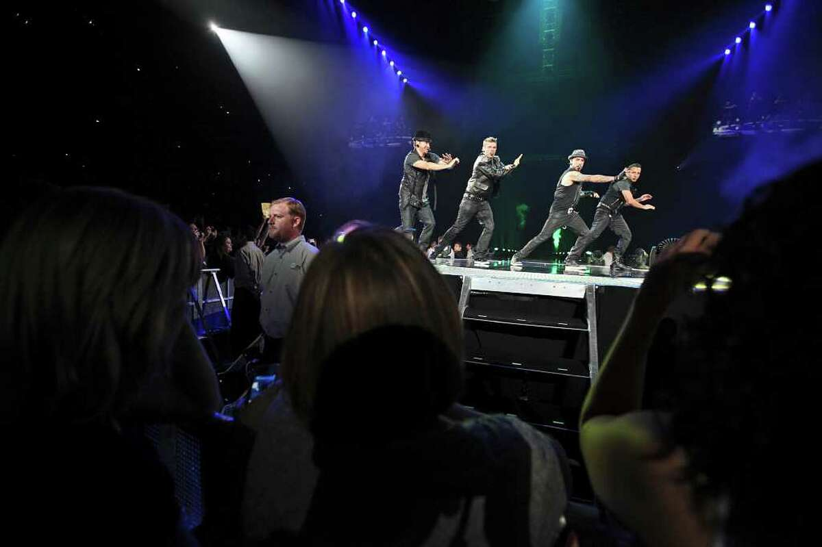 The Backstreet Boys perform on June 28, 2011, at the AT&T Center.