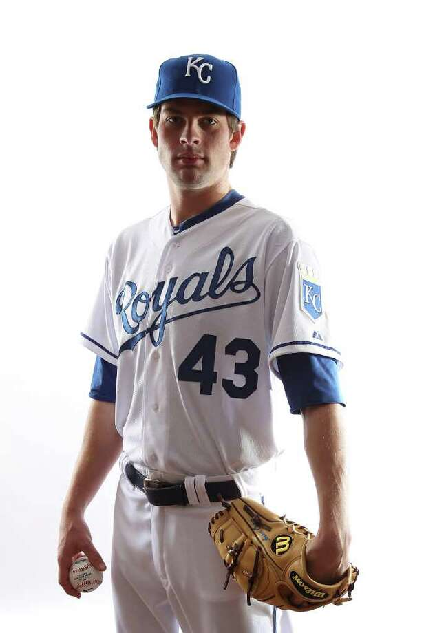 Aaron Crow #43 of the Kansas City Royals poses for a portrait during Spring Training Media Day on February 23, 2011 at Surprise Stadium in Surprise, Arizona.  (Photo by Jonathan Ferrey/Getty Images) Photo: Jonathan Ferrey, Ap/Getty / 2011 Getty Images