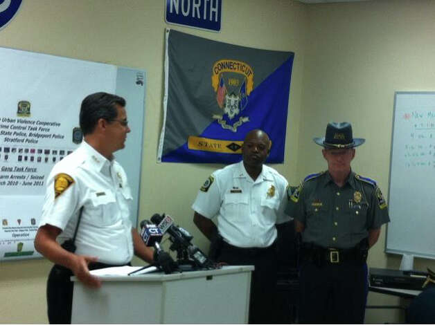 Bridgeport Police Chief Joe Gaudette speaks at a press conference on Wednesday, June 29, 2011 to announce a series of raids that resulted in 29 arrests on the city's East Side and East End. Photo: Tom Cleary / Connecticut Post