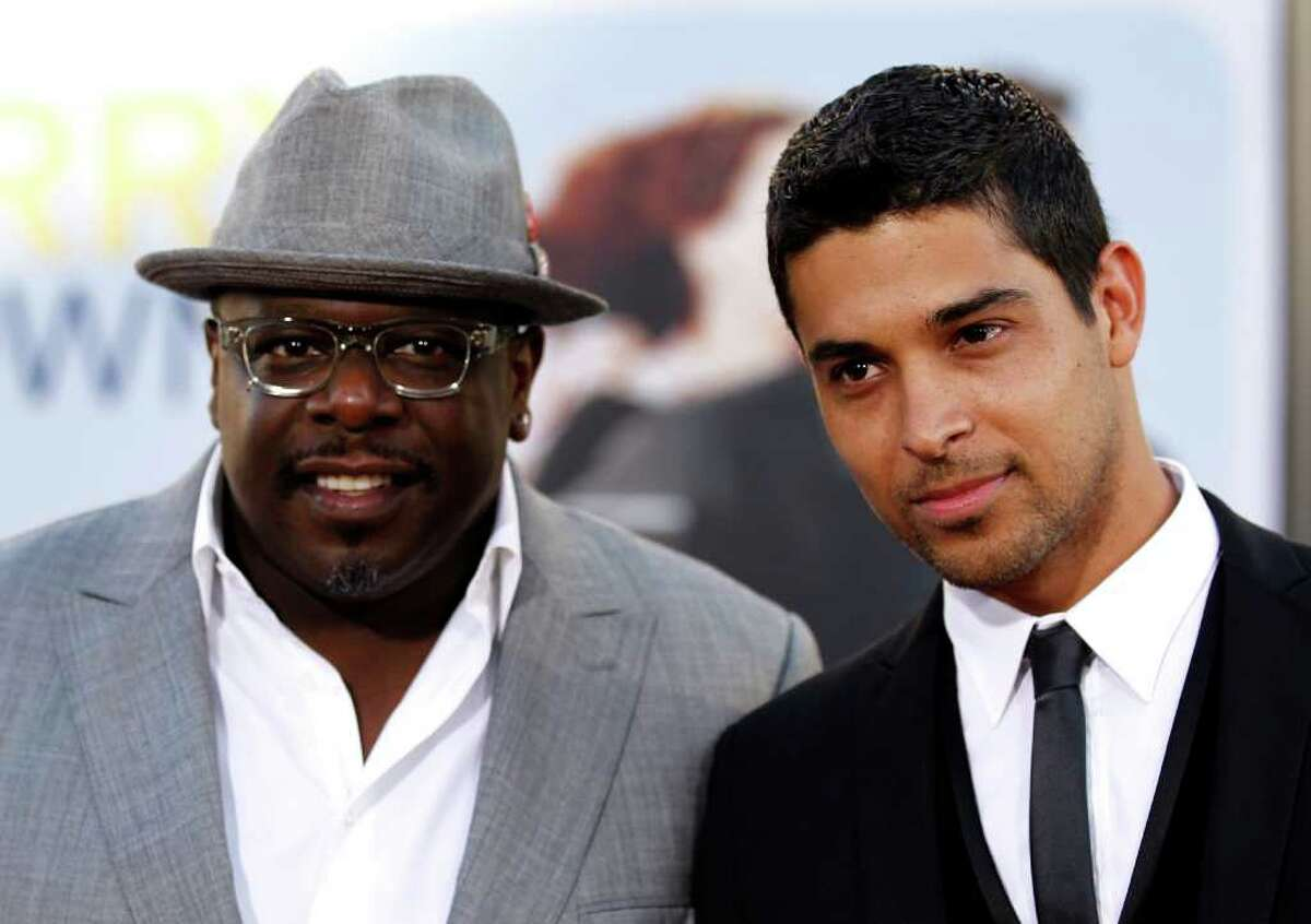 Cast members Cedric the Entertainer, left, and Wilmer Valderrama arrive at the premiere of