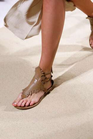 Sculpted flat sandals from Donna Karan for summer 2011