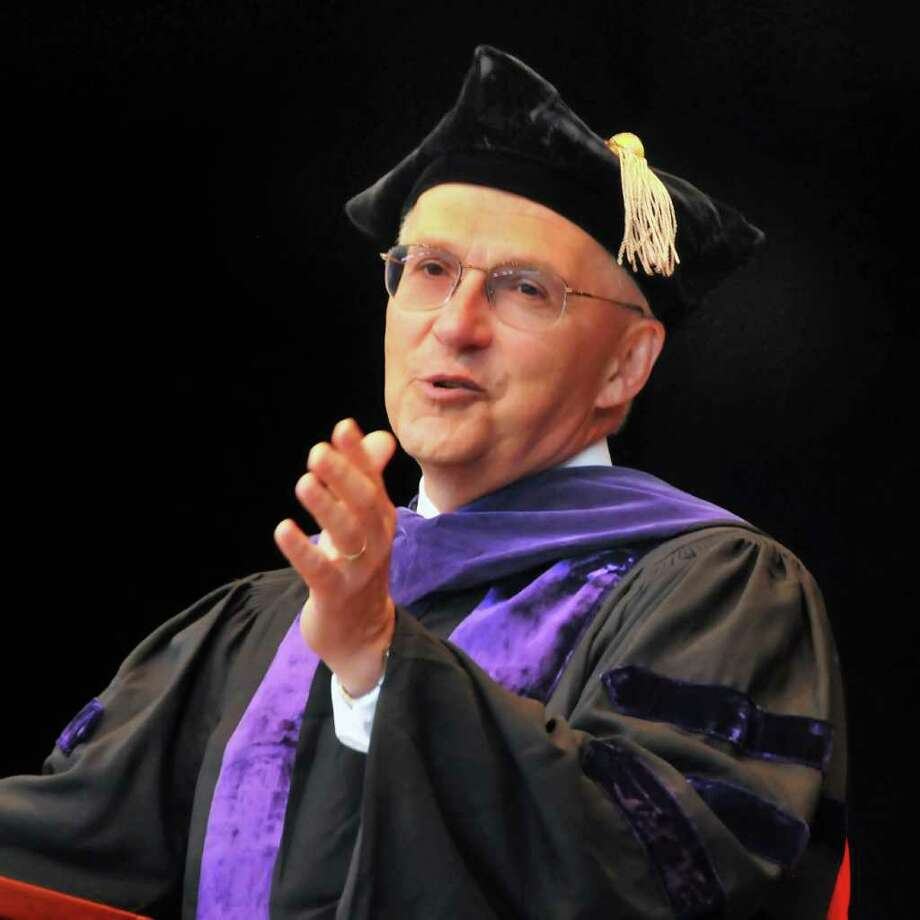 Richard C. Wesley, a justice of the U.S. Court of Appeals for the Second Circuit, delivers the commencement address at Albany Law School's  2010 commencement ceremony.   (John Carl D'Annibale / Times Union archive) Photo: John Carl D'Annibale / 00008270A