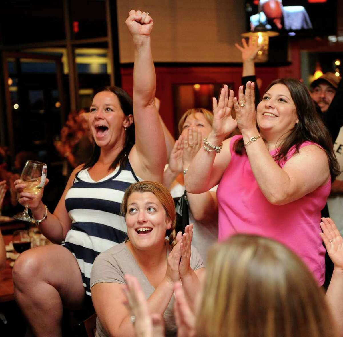 Fans cheer as Javier Colon is annouced the winner of