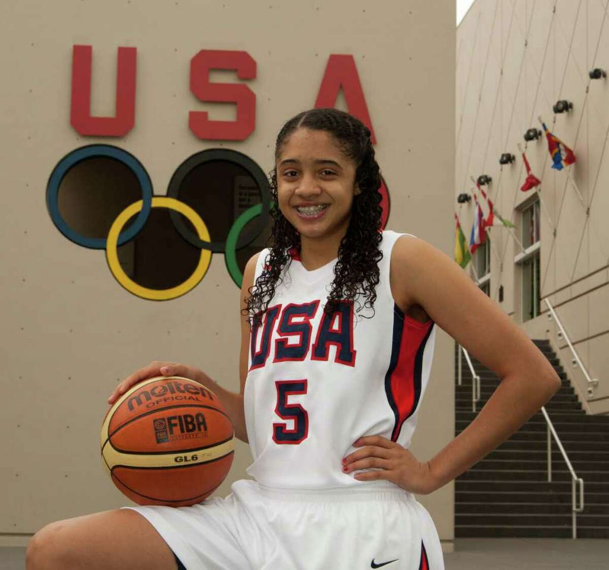 Recee' Caldwell, a 5-foot-8 point guard, was the youngest on Team USA at the tournament this month in Merida, Mexico.